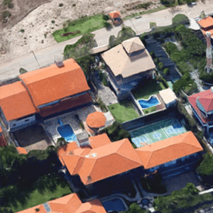 Vista da área onde fica a casa de Sérgio Machado em Fortaleza