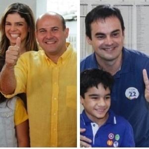 Roberto Claudio (esq) e Capitão Wagner disputam o segundo turno em Fortaleza