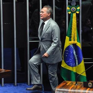 1.fev.2017 - Senador Renan Calheiros (PMDB-AL) em sua última sessão como presidente do Senado