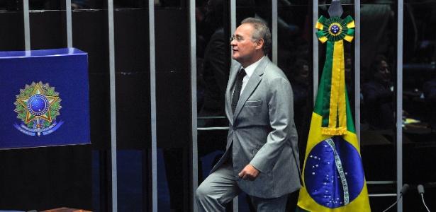 1.fev.2017 - O senador Renan Calheiros (PMDB-AL) no plenário do Senado