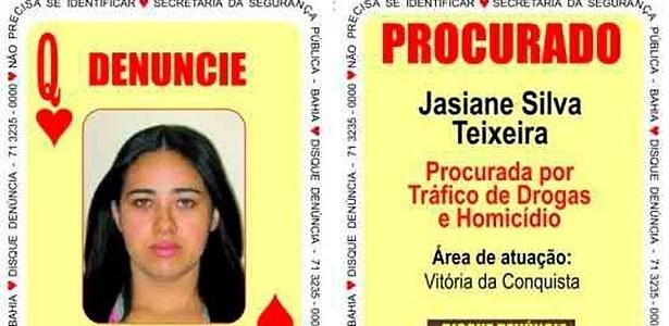 """""""Dona Maria"""", associada pela polícia à carta da dama de copas, na lista de procurados"""