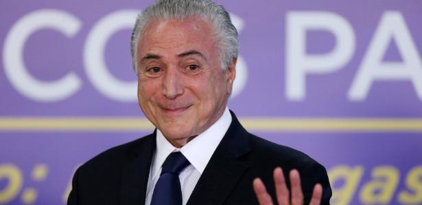 1º.ago.2017 - Presidente Michel Temer (PMDB) participa de solenidade no Palácio do Planalto