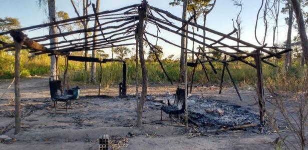 Acampamento Lagoa Azul no município de Santa Maria das Barreiras, no Pará, queimado e destruído para desalojar as cerca de 70 famílias que viviam no local
