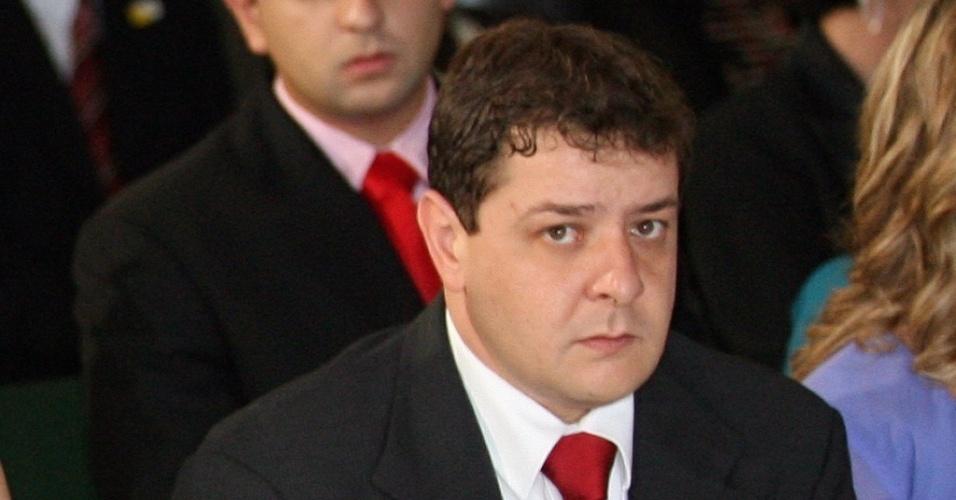 Posse do Segundo Mandato de Luiz Inácio Lula da Silva: Fábio Luis Lula da Silva, filho do presidente Luiz Inácio Lula da Silva e sócio da Gamecorp, acompanha cerimônia de posse do presidente, no Congresso Nacional, em Brasília (DF)