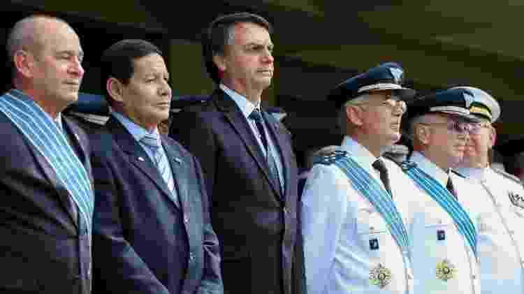 Jair Bolsonaro durante solenidade de passagem do comando da Aeronáutica - Marcos Corrêa/PR