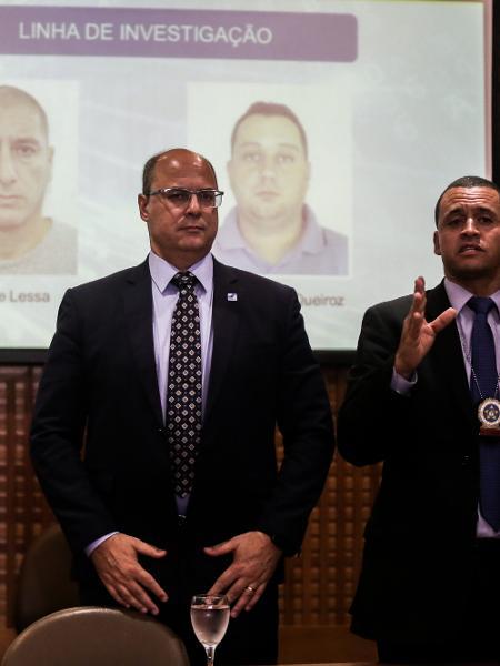 12.mar.2019 - O governador do Rio, Wilson Witzel, em entrevista sobre o caso Marielle -  Ian Cheibub/Folhapress