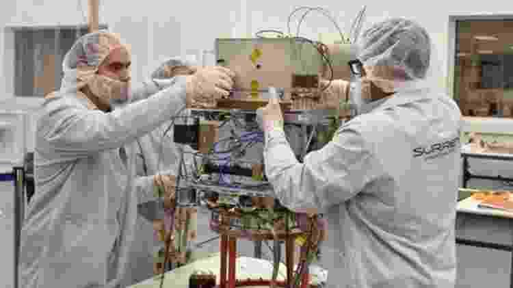 O desenvolvimento do satélite para levar o relógio foi feito por uma empresa do Reino Unido - GENERAL ATOMICS