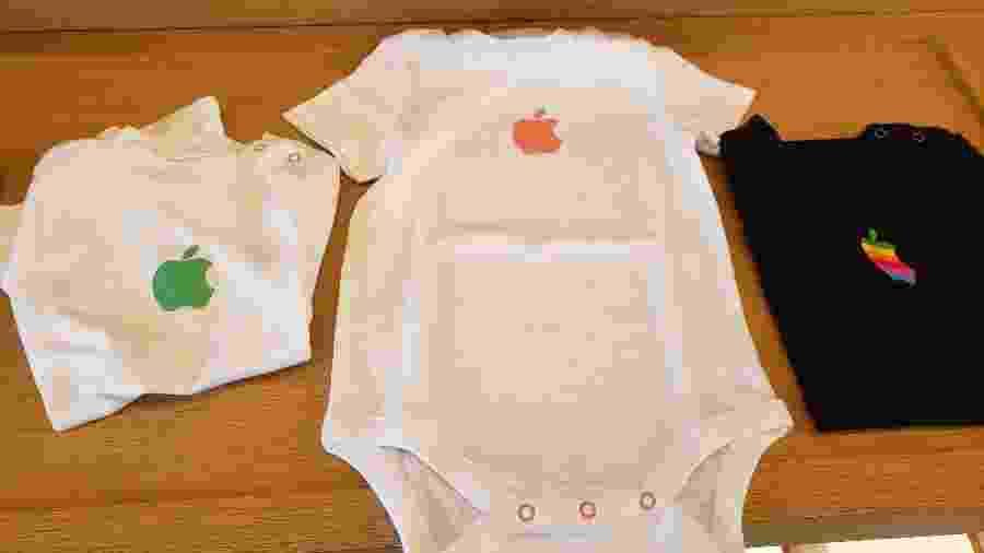 Roupas de bebê exclusivas vendidas no Apple Visitor Center, em Cupertino, Estados Unidos - Bruna Souza Cruz/UOL