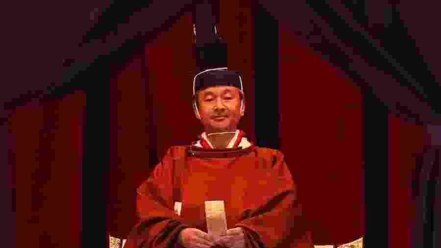 Imperador Naruhito em cerimônia de sua ascensão ao Trono do Crisântemo - Issei Kato/AFP