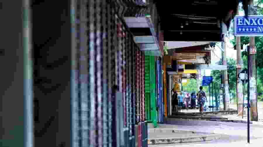 Comércio fica fechado no Distrito Federal em meio à pandemia do novo coronavírus - Cristiano Costa