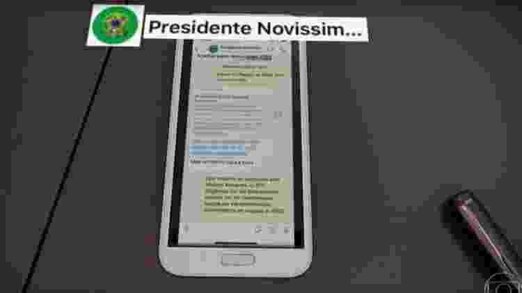 Print de conversa divulgada por Sergio Moro ao JN em 24 de abril - Reprodução - Reprodução