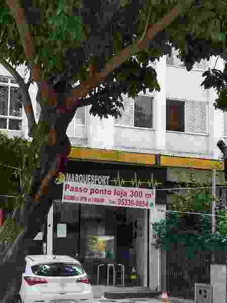 Academia fechada recentemente na Vila Buarque, bairro localizado no centro de São Paulo - Marcelo Oliveira/UOL - Marcelo Oliveira/UOL