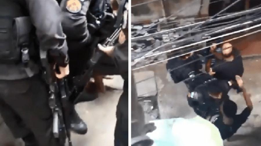 Moradores do morro do Borel denunciaram uma ação policial que terminou em um homem preso - Reprodução/Twitter