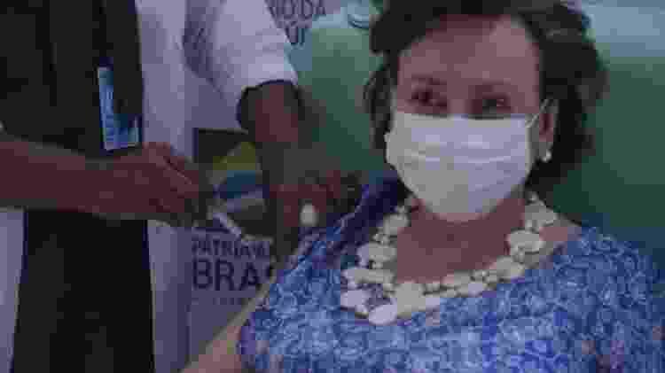 Margareth Dalcomo recebeu em janeiro a dose da vacina Oxford/AstraZeneca na Fiocruz - Tomaz Silva/Agência Brasil - Tomaz Silva/Agência Brasil