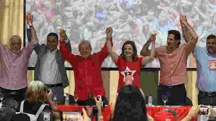 Lula em ato do PT em Salvador, 2019 - Mauro Akin Nassor / Correio* - Mauro Akin Nassor / Correio*