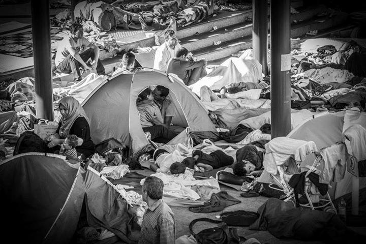 23.set.2015 - O fotógrafo Istvan Zsiros registrou um beijo entre um casal de refugiados em um campo montado na estação Keleti, na Hungria. A foto foi feita em 30 de agosto, mas se tornou viral nesta quarta-feira. Para o jornal britânico