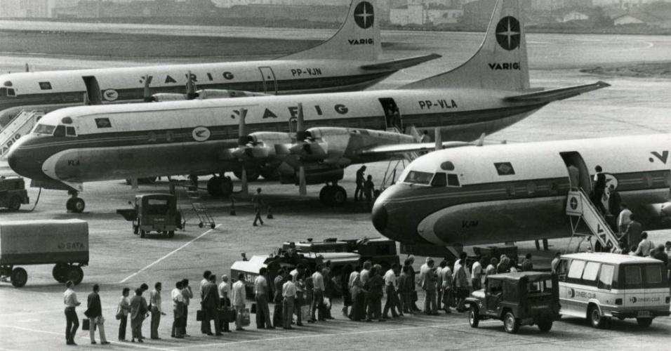 Aviões Electra da Varig