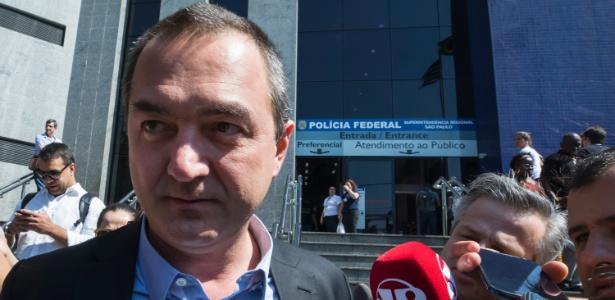 9.ago.2017 - Joesley Batista presta depoimento à Polícia Federal