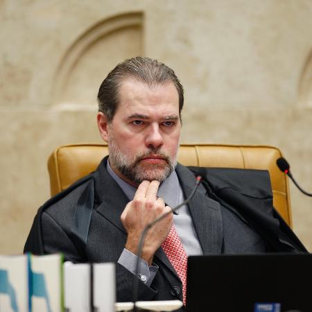 15.ago.2018 - O vice-presidente do STF, ministro Dias Toffoli durante sessão plenária em agosto - Rosinei Coutinho - 15.ago.2018/SCO/STF