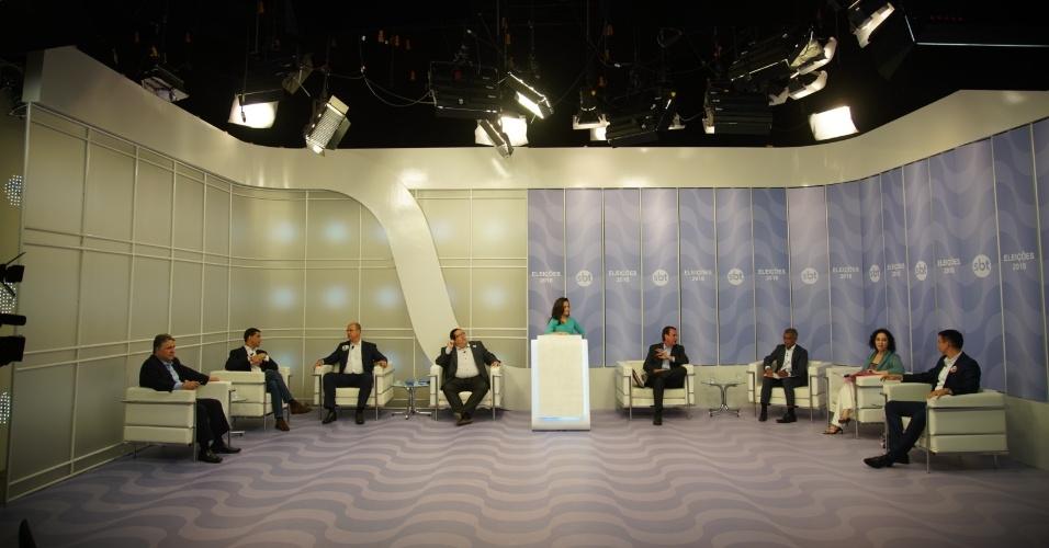 19.set.2018 - Candidatos a governador do Rio de Janeiro participam do debate Folha/SBT/UOL