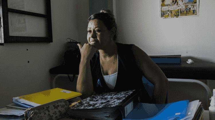 No posto de saúde Valflor, em Embu-Guaçu, é a enfermeira Sheila Ferreira, 40, quem atende a população - Rafael Roncato/UOL