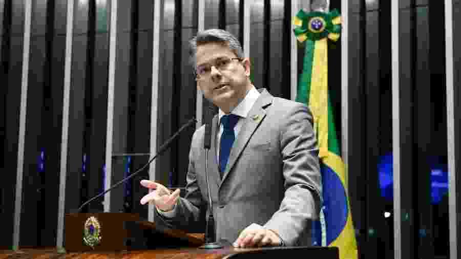 7.fev.2019 - Senador Alessandro Vieira (Cidadania-SE) durante sessão no plenário - Pedro França/Agência Senado