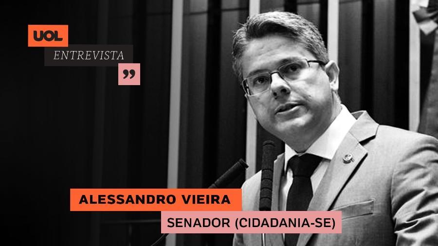 Senador Alessandro Vieira no UOL Entrevista (25/06/20) - Arte/UOL