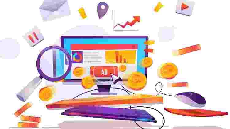 Anúncios publicidade website digital - upklyak/ Freepik - upklyak/ Freepik