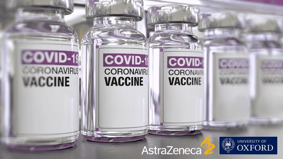 Ampolas da vacina contra covid-19 da AstraZeneca com a Universidade de Oxford - Divulgação