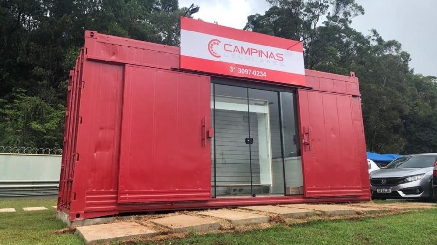 Campinas Celulares, rede de assistência técnica, cria formato de conteiner - Divulgação