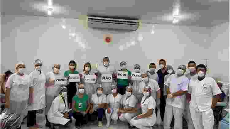 Setor de diálise vive crise, que foi acentuada por pandemia de covid-19 - Arquivo pessoal/BBC News Brasil - Arquivo pessoal/BBC News Brasil