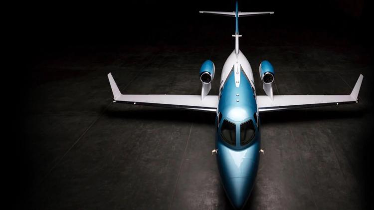 HA-420, HondaJet, con i suoi motori montati sui fianchi - San Diego Air and Space Museum - San Diego Air and Space Museum