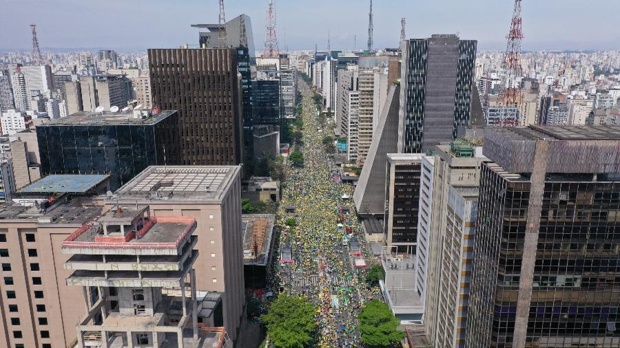 Ato pró-bolsonaro na Avenida Paulista - Entre Nuvens/UOL