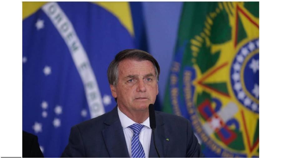 Presidente Jair Bolsonaro durante lançamento de programa habitacional para agentes de segurança. O troço vem à luz na forma de uma Medida Provisória, o que é inconstitucional - Dida Sampaio/Estadão