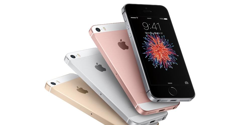 21.mar.2016 - A Apple lançou o iPhone SE, que marca uma volta da empresa de tecnologia às telas de quatro polegadas para smartphones. O último celular da Apple com esse tamanho de tela foram os iPhones 5S e 5C, lançados em 2013, e vai na contramão à tendência de telas cada vez maiores para telefones