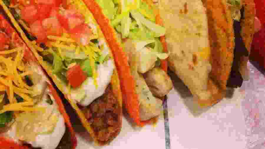 Tacos da rede americana Taco Bell - Reprodução/Facebook/Tacobell