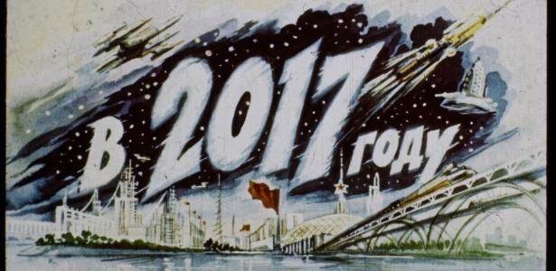 A história futurista foi publicada em formatos de tiras para projetores de slides