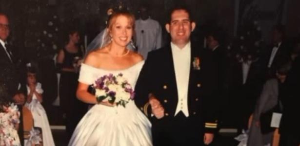 Scott e Cindy Chafian no dia do casamento