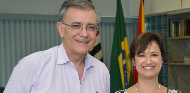 José Crespo (DEM) e Jaqueline Barcelos Coutinho (PTB), prefeito e vice de Sorocaba (SP)