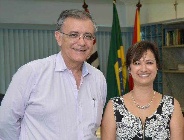 José Crespo e Jaqueline Barcelos Coutinho, em foto de arquivo - Divulgação/Prefeitura de Sorocaba