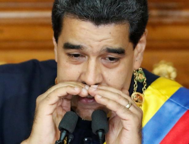 Nicolás Maduro, durante pronunciamento em sessão da Assembleia Constituinte