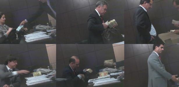 Imagens das gravações feitas pelo ex-governador do Mato Grosso Silval Barbosa (PMDB) em acordo de delação com o STF