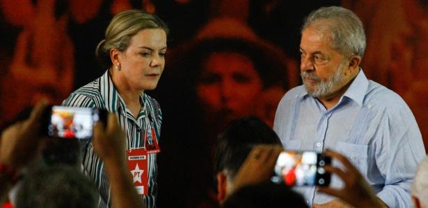 Gleisi Hoffmann e Lula participam de reunião da Executiva Nacional do PT