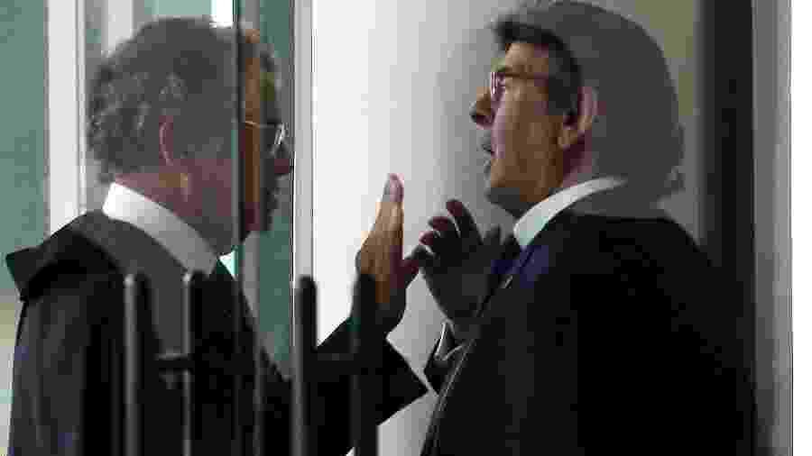Marco Aurélio (e) e Fux em 2018; decisões opostas sobre soltura de líder do PCC provocaram críticas entre os ministros - André Dusek/Estadão Conteúdo