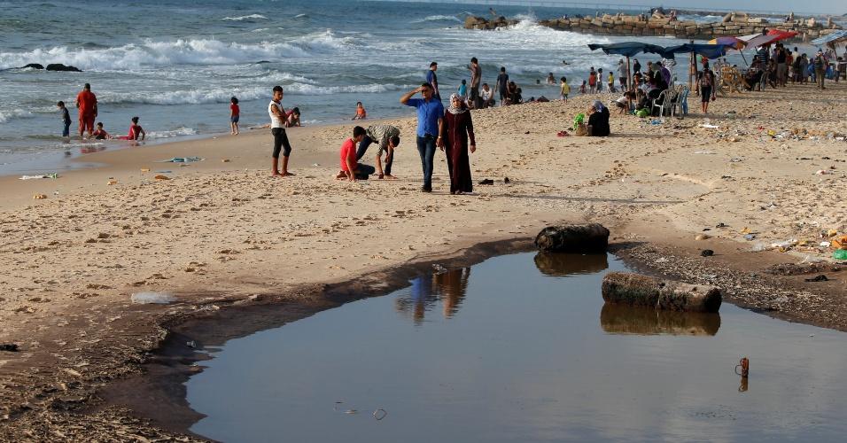 Praia em Gaza