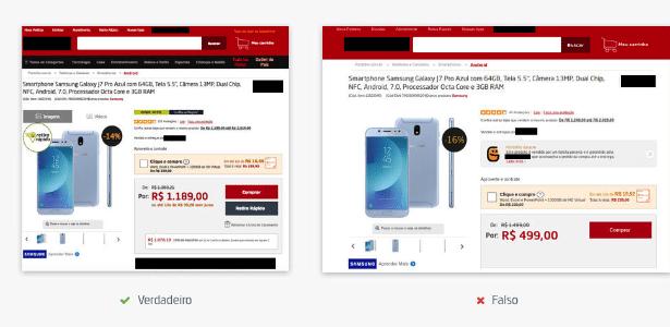 """Site falso copia design da página verdadeira com promoções """"imperdíveis"""""""