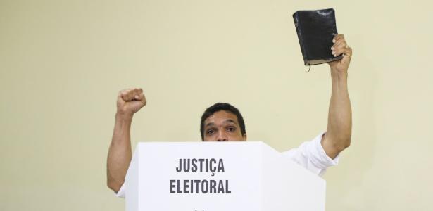 Candidato do Patriota a presidente, Cabo Daciolo terminou a disputa em 6º lugar