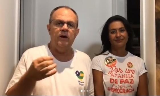 28.out.2018 - O governador de Sergipe, Belivaldo Chagas (PSD), foi reeleito neste domingo com 64,72% dos votos válidos, ante 35,28% do deputado Valadares Filhos (PSB). Ele se pronunciou nas redes logo após o resultado