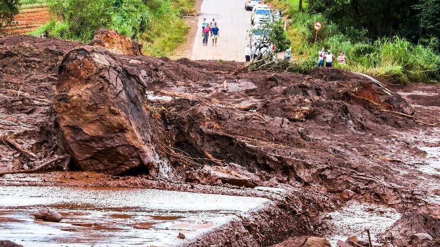 Região afetada pela lama na região de Brumadinho (MG) - Cadu Rolim/Fotoarena/Estadão Conteúdo