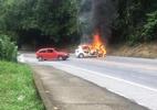 Tiroteio em assalto a carro-forte fecha Rio-Santos em Angra - Reprodução/Redes Sociais